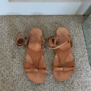 Free People lace up sandals euro size 38 fits 7-8!